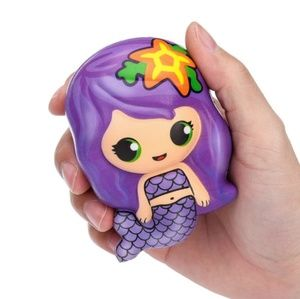 🧜Cute Purple Kawaii Slow Rising Mermaid Squishy